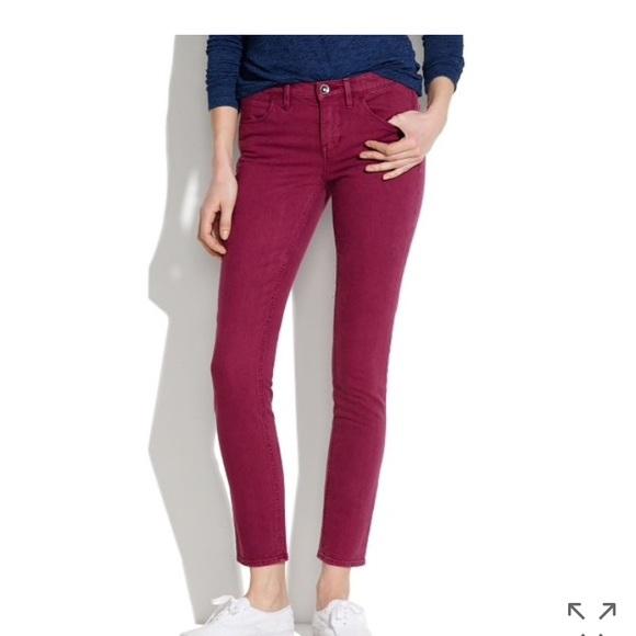 Jeans Poshmark Madewell Burgundy Dusty Ankle Skinny Bq4xzP